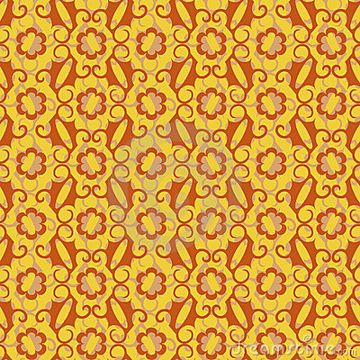 Abstract seamless background of yellow and brown