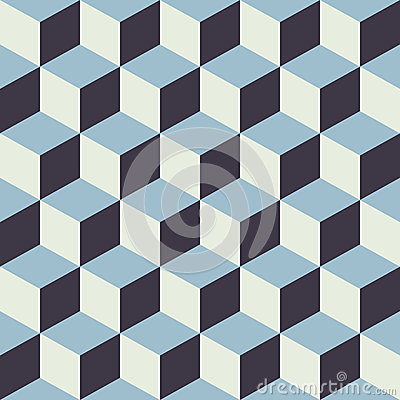 Free Abstract Seamless Checkered Cube Block Color Blue Pattern Background Stock Photography - 52643502