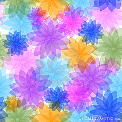 Free Abstract Seamless Floral Pattern Stock Photos - 10941063