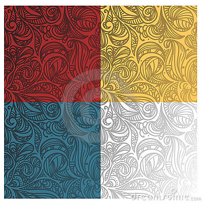 Abstract seamless floral  patterns