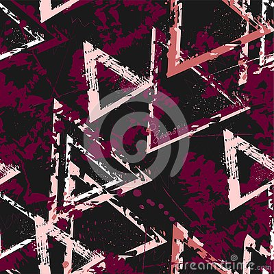 Free Abstract Seamless Geometric Background With Cracked Texture. Grunge Pattern For Boys, Girls, Sport, Fashion. Urban Colorful Wallpa Stock Images - 141736624