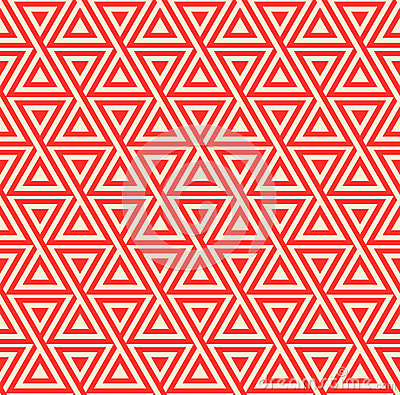 Free Abstract Seamless Geometric Pattern With Triangles Royalty Free Stock Photography - 39570287