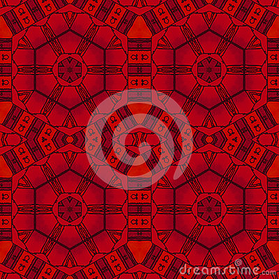 Free Abstract Seamless Hexagon Pattern Red Black Drawing Stock Photo - 85617480