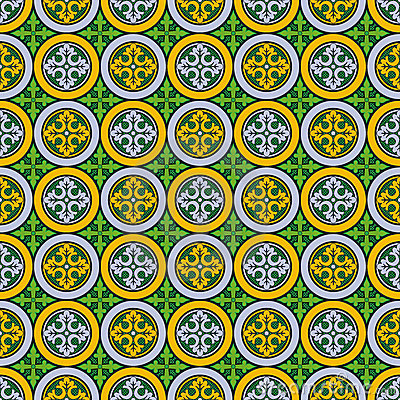 Abstract seamless  medieval cross pattern