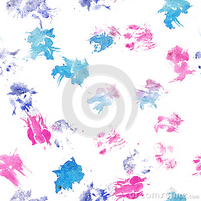 Abstract seamless pattern - black ink prints with messy dog paws. Creative monochrome backdrop with regular animal footprints Stock Photo