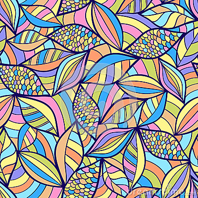 Abstract seamless pattern with colorful elements