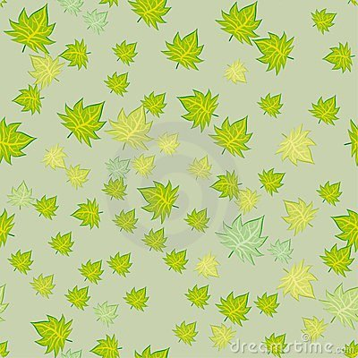 Abstract seamless pattern with leaves