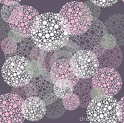 Abstract seamless polka dot circles pattern