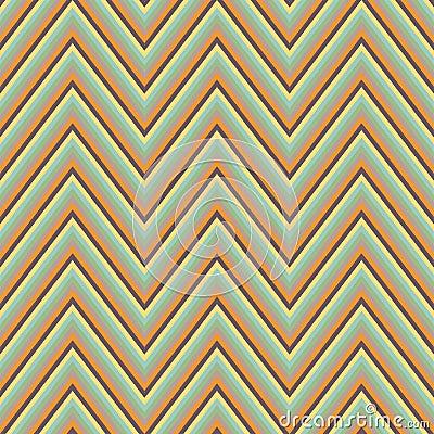 Abstract seamless retro zigzag ornament Vector Illustration
