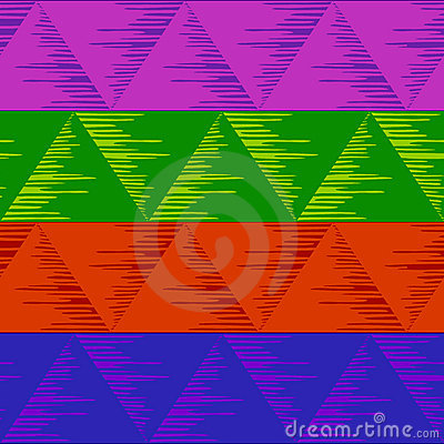 Abstract seamless triangles, motley