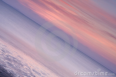 Abstract Seascape Sunset