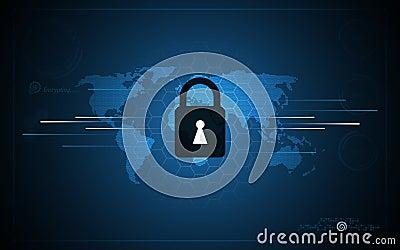 Abstract Security Tech Sci Fi Concept Background Hexagon