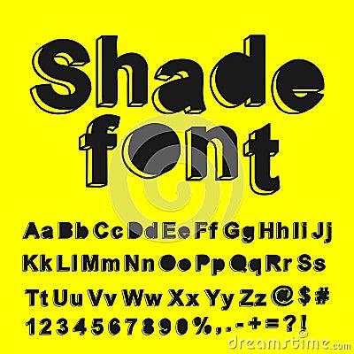 Abstract shade font