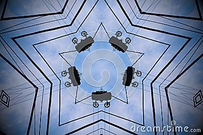 Abstract shape mandala Stock Photo