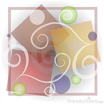 Abstract Shapes Art Collage