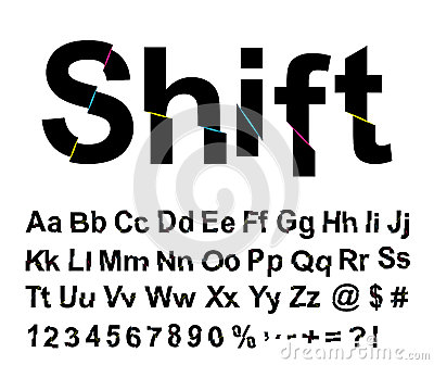 Abstract shift font