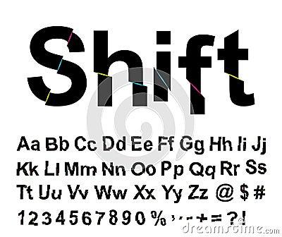 Abstract shift font
