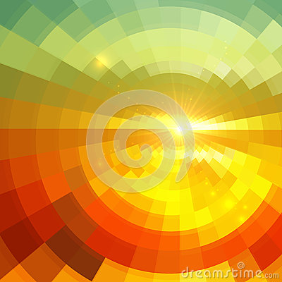 Abstract shining circle tunnel background