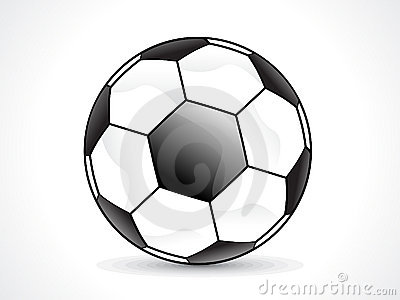 Abstract shiny football design