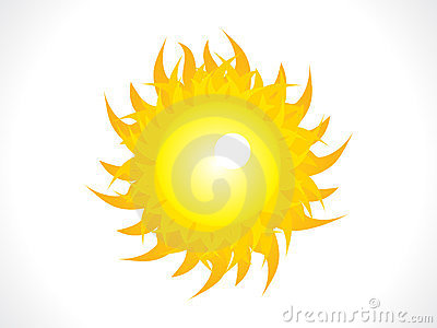Abstract shiny sun icon