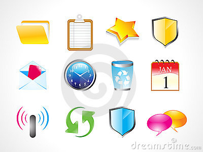 Abstract shiny web icon set