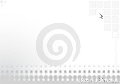 Abstract silver background with computer cursor