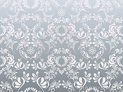 Abstract Silver Decoration Pattern Stock Photography