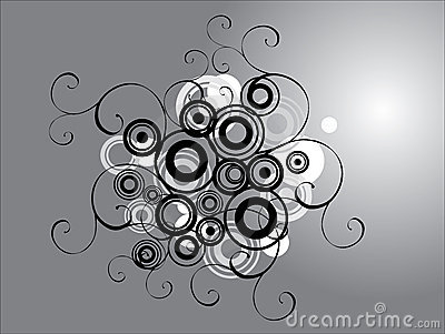 Silver Filigree Design Royalty Free Stock Image - Image: 1590496