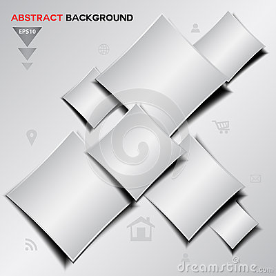 Free Abstract Silver Geometrical Vector Background Stock Photos - 63252953