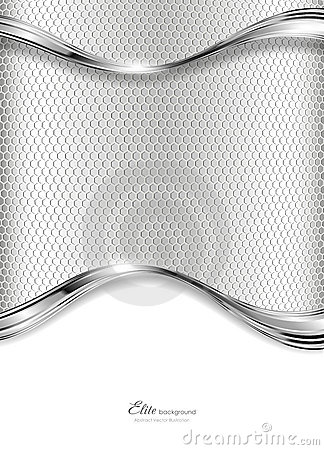 Abstract silver technology background