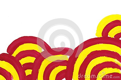 Abstract simple red yellow circlesbackground.