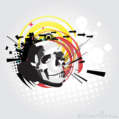 Abstract skull  art