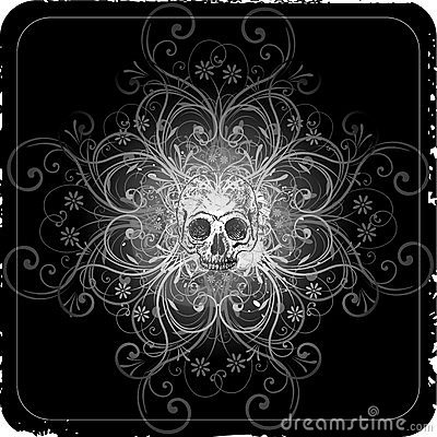 Abstract skull design