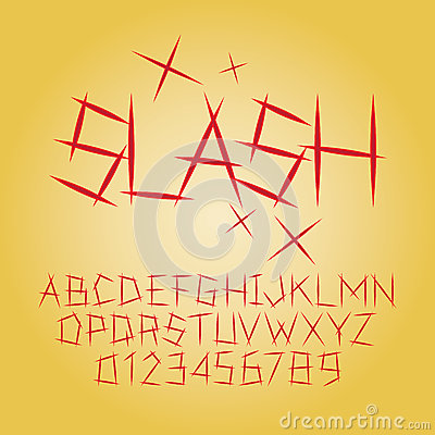 Free Abstract Slash Alphabet And Digit Vector Royalty Free Stock Images - 37381579
