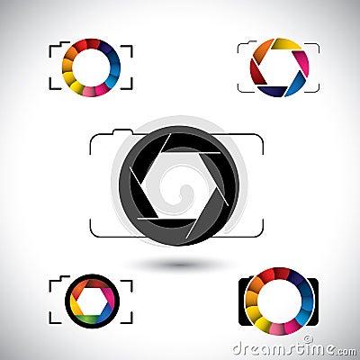Free Abstract Slr Camera Concept Vector Icons Royalty Free Stock Photos - 42252368