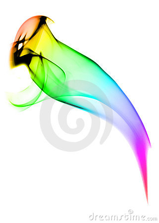 Free Abstract Smoke Bird With Gradient Color Stock Photography - 10181372
