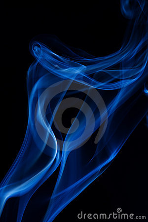 Abstract smoke on black