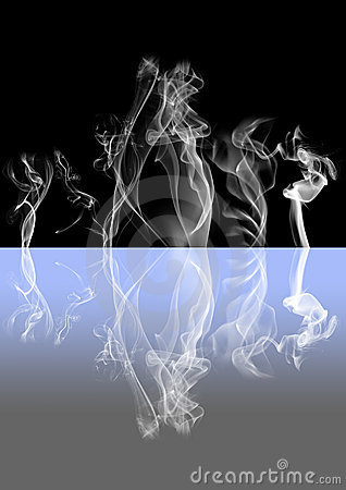 Abstract smoke dark background