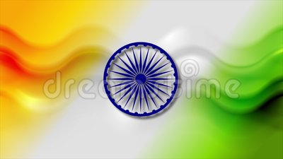 Abstract smooth waves motion background. Colors of India stock footage