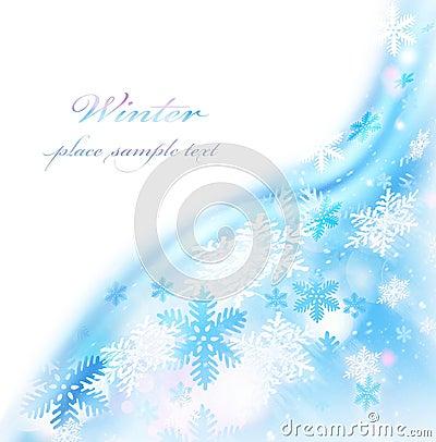 Abstract snowflake border