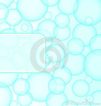 Abstract soap ball with bubble