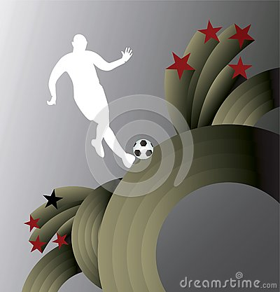 Abstract soccer background.