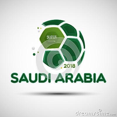 Free Abstract Soccer Ball With Saudi Arabian National Flag Colors Royalty Free Stock Photo - 109069305