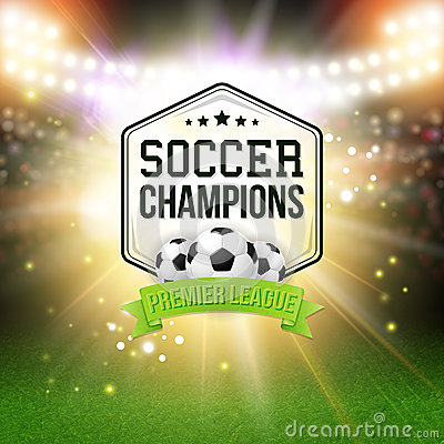 Free Abstract Soccer Football Poster. Stadium Background With Bright Royalty Free Stock Images - 41994519