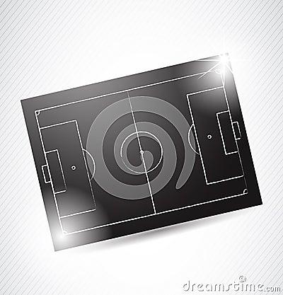 Abstract Soccer Tactics Board