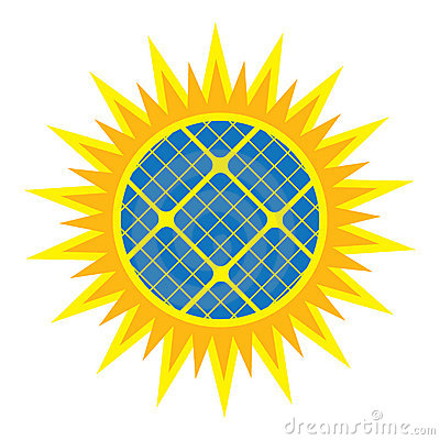 Abstract solar panel icon