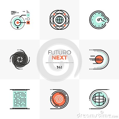 Free Abstract Space Futuro Next Icons Stock Image - 125251751