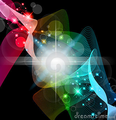 Abstract Space Scenary of llight