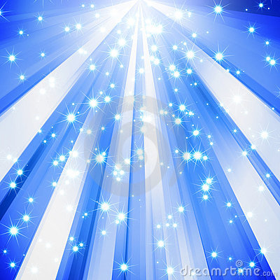 Abstract sparkle star blue background