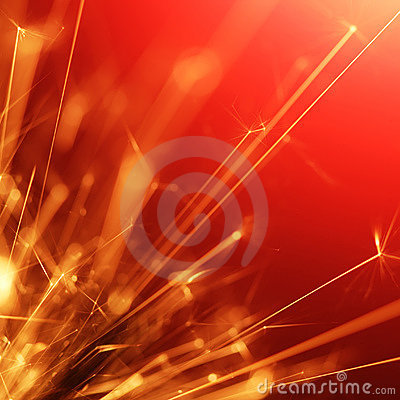 Abstract sparkler